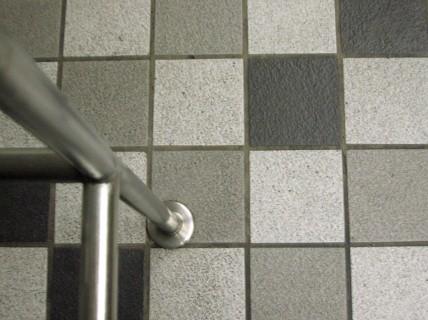 a tiled floor