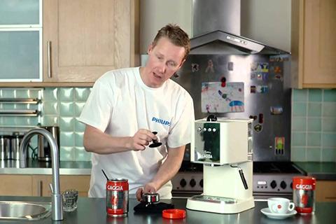 Man with Gaggia Espresso Machine