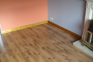 A Freshly Laid Laminate Floor